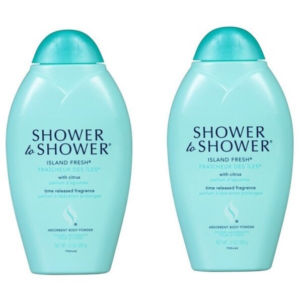 Shower-to-Shower Absorbent 13-ounce Island Fresh Body Powder (Pack of 2)