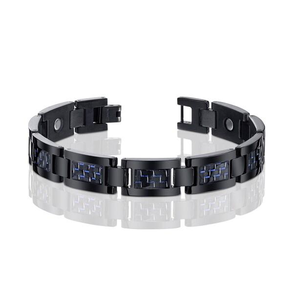 Men's Titanium and Carbon Fiber Bracelet