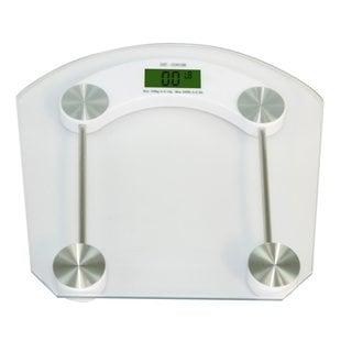 Home Basics Digital Clear Glass Bathroom Scale