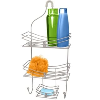 Home Basics Jumbo Satin Nickel Shower Caddy