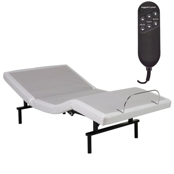 Fashion Bed Group Vibrance Adjustable Platform Base with White Upholstery and Wired Remote