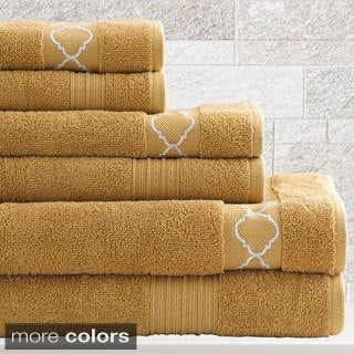 Jewel Tone Quatrefoil 6-Piece Towel Set