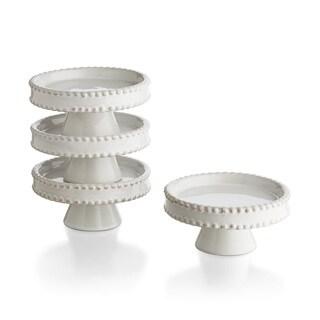Biance Bead Edge Cupcake Pedestal (Set of 4)
