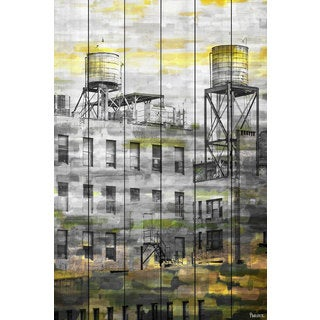 Parvez Taj 'Twin Silos' Canvas Art