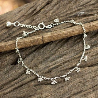 Handcrafted Sterling Silver 'Melody' Anklet (Thailand)