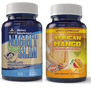 Totally Products African Mango Superfruit and Night Slim-Night Time Weight Loss Pills (60 Capsules)