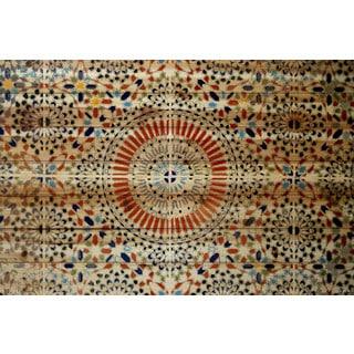 Parvez Taj 'Kortoba' Painting Print on Natural Pine Wood