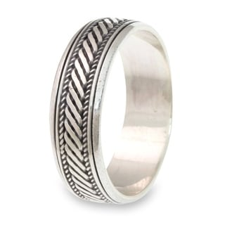 Men's Handcrafted Sterling Silver 'Speed' Ring (Indonesia)