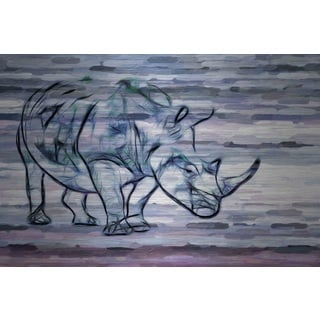 Parvez Taj 'Rhinoceros' Canvas Print Art