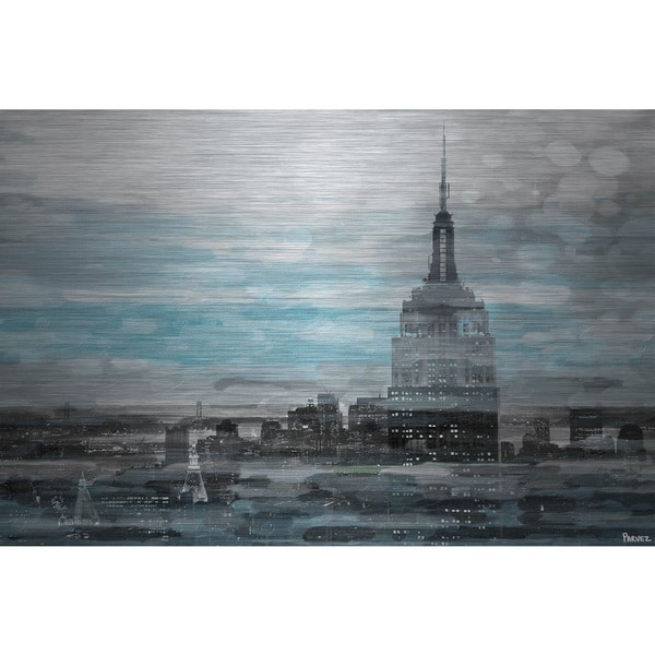Parvez Taj 'Blue City Hues' Canvas Print Art