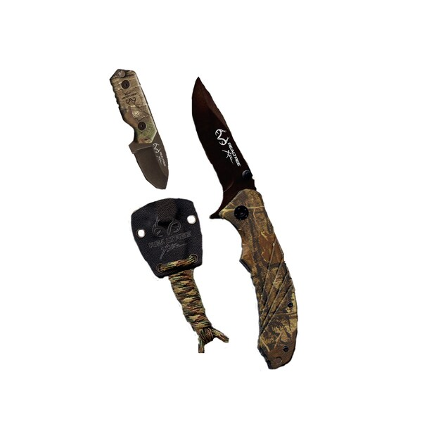 Realtree Xtra Folder and Neck Knife ABS Xtra Camo Handle