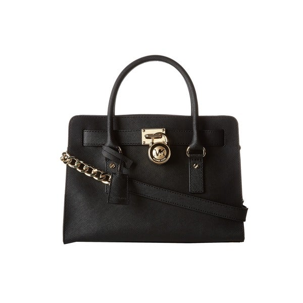 Michael Kors Hamilton Saffiano Leather East West Black Satchel