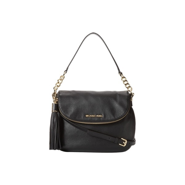 Michael Kors Bedford Medium Tassel Black Convertible Shoulder Bag