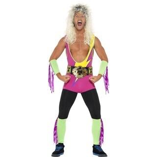 Retro Wrestler Costume Ultimate Warrior Wrestling Rockers 80's 90's Adult