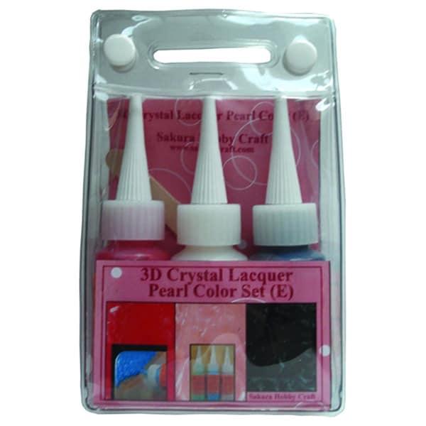 Sakura 3DCL Pearl Color Lacquer Set E 03037 Hobby Craft (Set of 3)