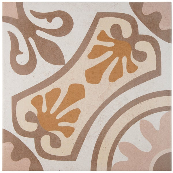 SomerTile 13x13-inch Olivia Beige Ceramic Floor and Wall Tile (Case of 13)
