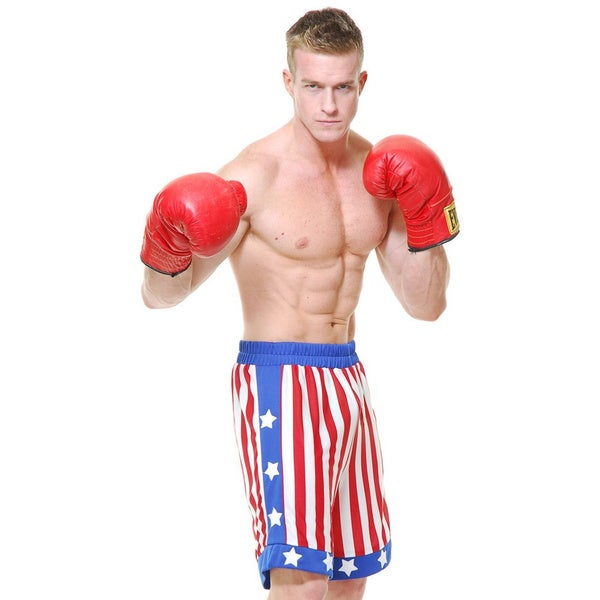Rocky Balboa Adult Costume American Flag Shorts
