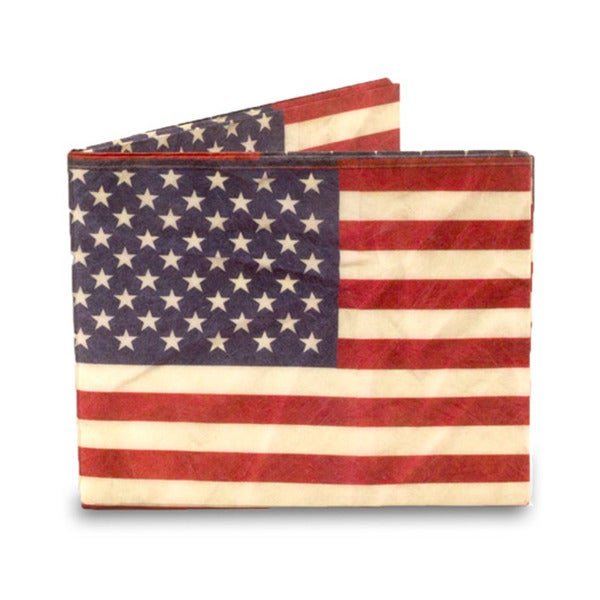 Dynomighty Slim Lightweight American Flag Billfold Wallet