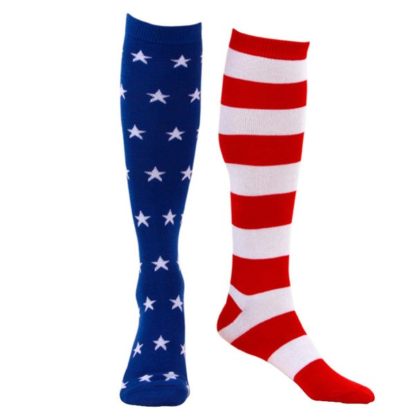 Patriotic American Flag Knee High Socks
