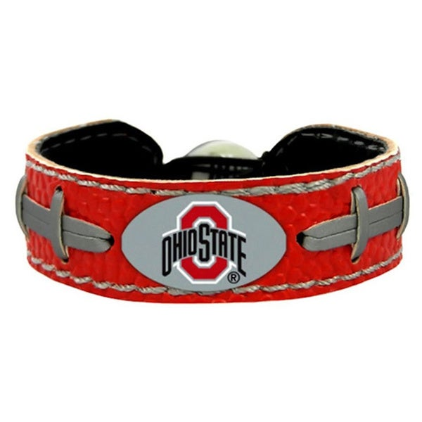 Ohio State Buckeyes Team Color Football Bracelet