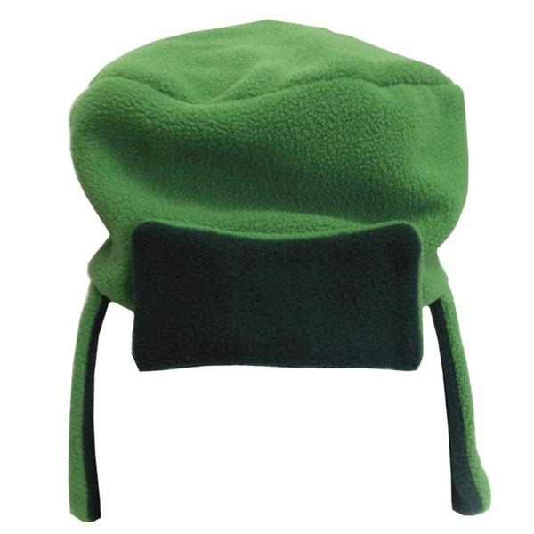 Green Fleece Ski Cap Costume Hat