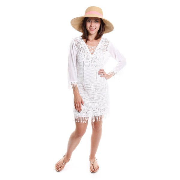 Hadari Women's Fringe Tunic Dress