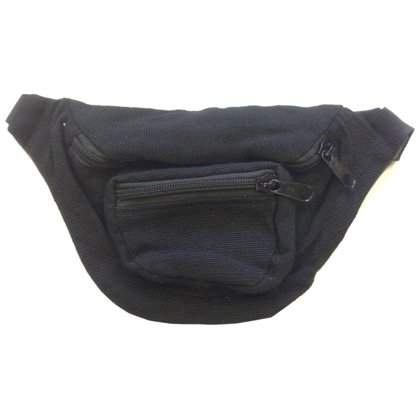 Black Fanny Pack Bag Rave Club Bum Bag