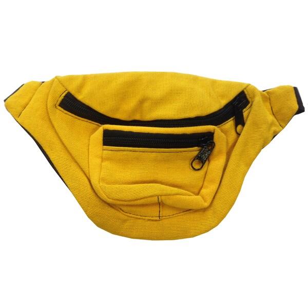 Yellow Fanny Pack Bag Rave Club Bum Bag