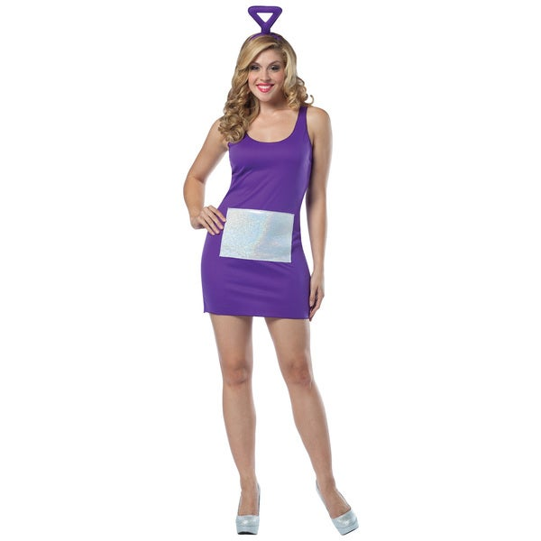 Teletubbies Tinky Winky Tank Dress Womens Costume