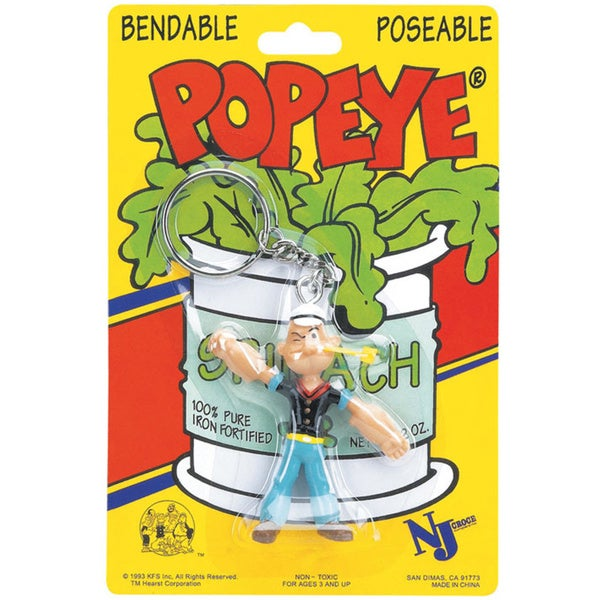 Popeye Bendable Key Chain