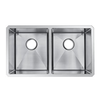 StarStar 31 X 18 Undermount Stainless Steel Double Bowl Kitchen Sink