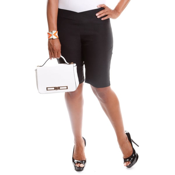 Hadari Women's Plus Size Basic Capri