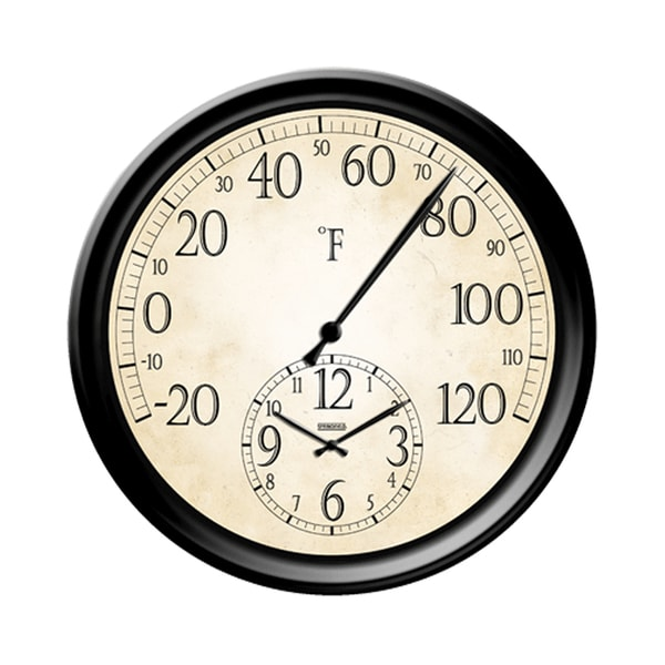 14-inch Decorative Thermometer Wall Clock