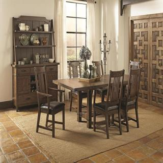 Bastille Brown 8 Piece Counter Height Dining Set