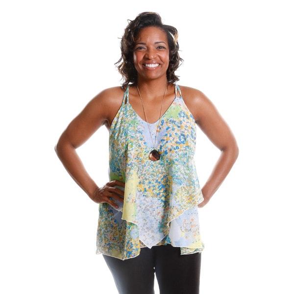 Hadari Women's Plus Size Floral Print Camisole