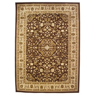 Traditional High Quality Area Rug Brown Oriental Rug (6'6 x 9'6)