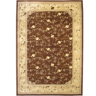 Traditional Oriental Area Rug Brown Rug (6'6 x 9'6)