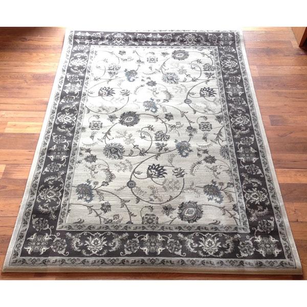 Traditional Area Rug High Quality Grey Oriental Hallway