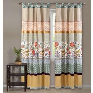 Geneva 84-Inch Curtain Panel Pair with Ties Backs