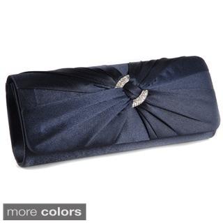 Satin Crystal Knot Evening Bag Handbag