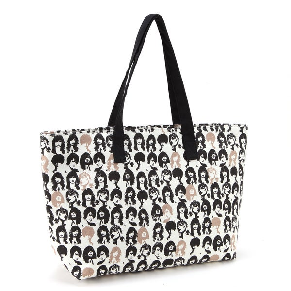 Canvas Printed Daily Tote Handbag