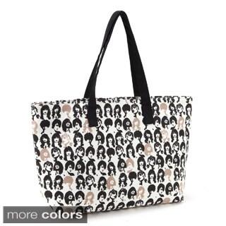 Canvas Printed Daily Tote Handbag