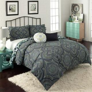 Kapalua Pinwheel Motif Reversible 5-piece Comforter Set