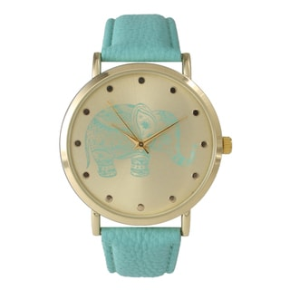 Olivia Pratt Women's Tribal Elephant Faux Leather Band Watch