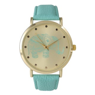 Olivia Pratt Women's Tribal Elephant Leather Band Watch