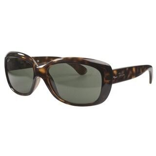 Ray-Ban RB4101 Light Havana Frame Crystal Green Lenses Sunglasses