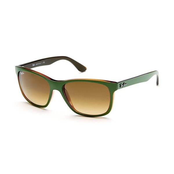 Ray-Ban RB4184 Polarized Square Brown Green Sunglasses