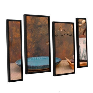 ArtWall Elena Ray ' Zen Still Life 4 Piece Floater Framed Canvas Staggered Set