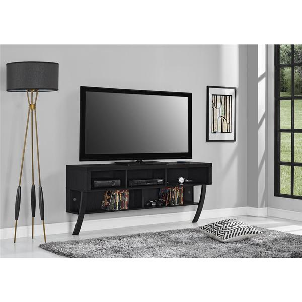 Altra Black Oak Wall Mounted 60-inch TV Stand