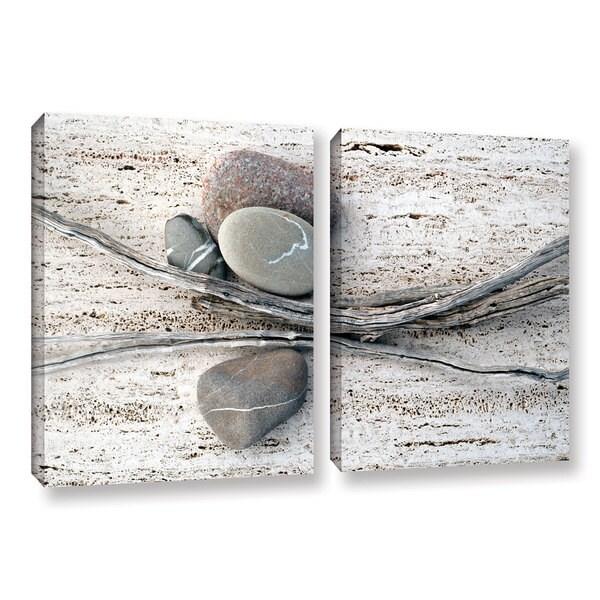 ArtWall Elena Ray ' Still Life Sticks Stones 2 Piece ' Gallery-Wrapped Canvas Set